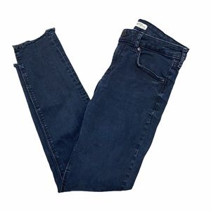 Zara Denim Collection Raw Hem Skinny Jeans